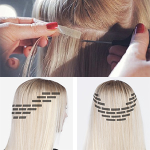 tape in hair extensions ombre