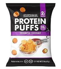 Sriracha Cheddar Protein Puffs
