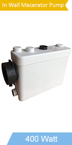 400watt in wall hung toilet macertor pump