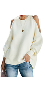 Women Cold Shoulder Sweater
