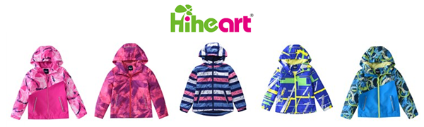 Boys girls waterproof rain jackets with hood