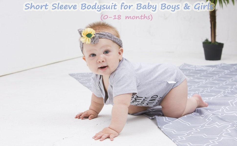 short sleeve bodysuit for baby