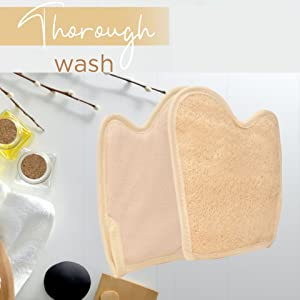 raw accessories raw one women body sponges for shower, lofa sponges, lily pads, natural sponges body