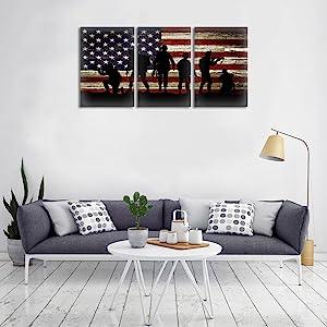 canvas american flag wall decor,canvas american flag bunting,red line american flag canvas,