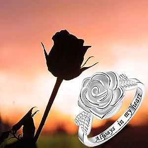 ROSE RING FOR WOMEN