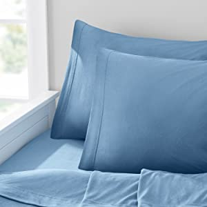 Dusk Blue Tencel Jersey