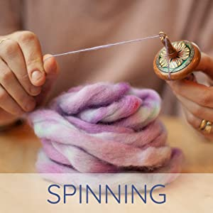 blue faced leicester living dreams yarn hand spinning drop spindle handmade diy hand dyed fiber wool