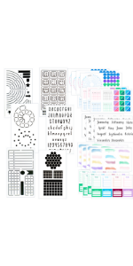 bullet journal supplies stickers stencils