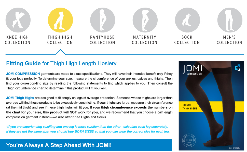 jomi thigh high compression stockings 20-30 10-15 30-40 8-10 mmhg women socks hose  tights toe less