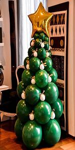 christmas balloon garland