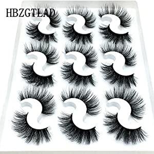 False eyelashes 9 pairs 6D-073