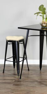 square bar stool cushion tolix counter height chair metal barstool pad ties washable