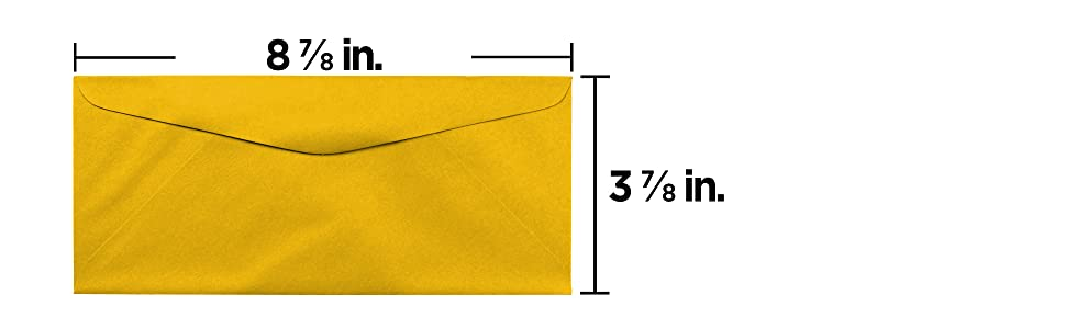 gold yellow #9 business colored envelope