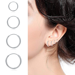 small hoop earring