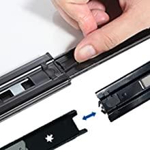 Push open the drawer slide