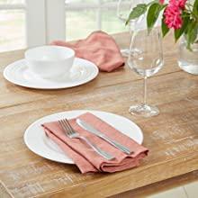 napkins, formal napkins, rust napkins, coral napkins, coral cloth napkins