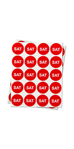 1PK | Days of the week: Saturday Stickers