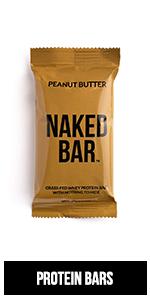 whey protein bar, peanut butter protein bar, gluten free protein bar, naked bars, pb protein bars