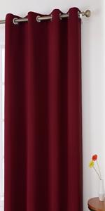 homeideas burgundy red blackout curtains