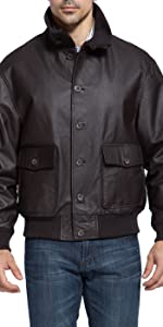 Landing Leathers Men's A-1 Leather Flight Bomber Jacket