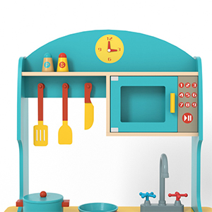 ROBUD Wooden Play Kitchen Set for Kids & Toddlers,