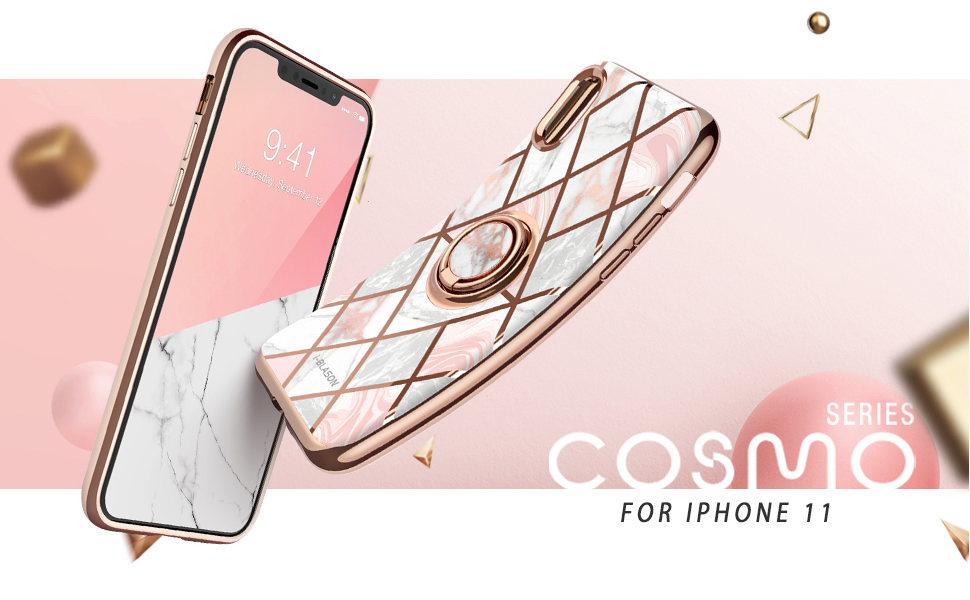 i-Blason Cosmo Snap Slim Case with Rotatable Ring Holder for iPhone 11 2018