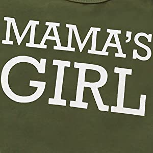 Popular mamas girl baby camo outfit