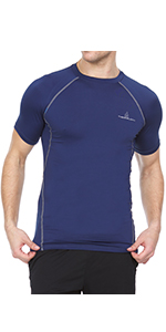 Thermajohn Men's Compression Short Sleeve Top