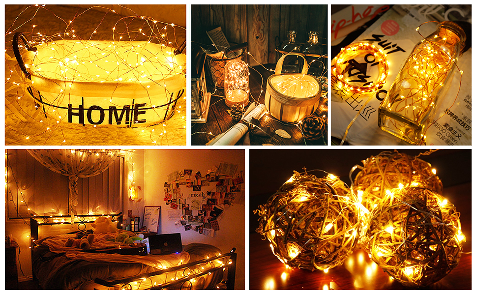 fairy lights christmas xmas holloween 100 led usb copper wire string lights indoor outdoor battery