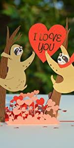 Sloth Couple Pop Up
