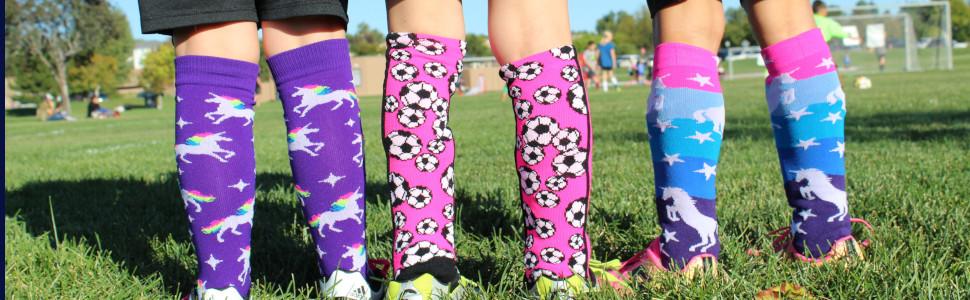 Girls Youth Soccer Socks