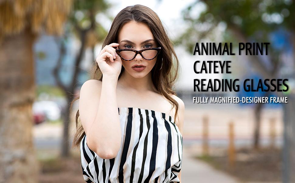 Cat eye reading glasses for women tortoise shell