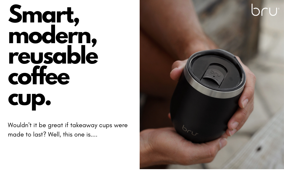 reusable coffee cup bru