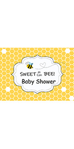 Sweet As Can Bee Baby Shower Theme Photography Backdrops Studio Props 5x3ft