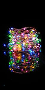 10 Pack 6.6 ft 20 LED Battery Operated Fairy String Lights (Multi Color)