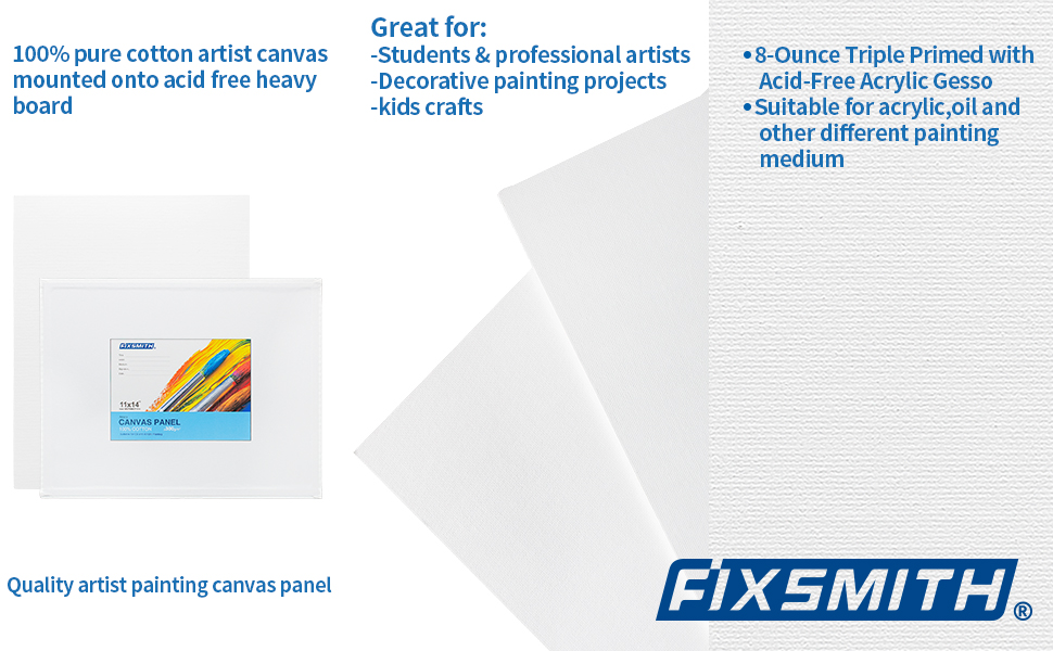FIXSMITH Smooth and Flat Canvases