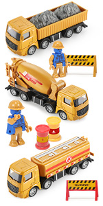 Metal construction truck