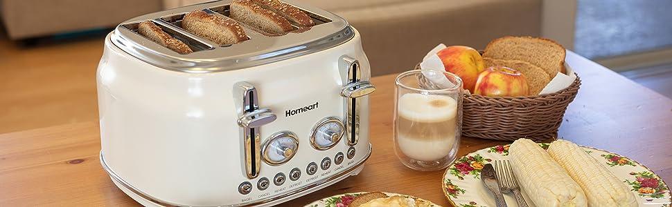 white four piece toaster