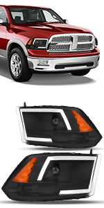 OEDRO Projector Headlights Compatible with Dodge Ram