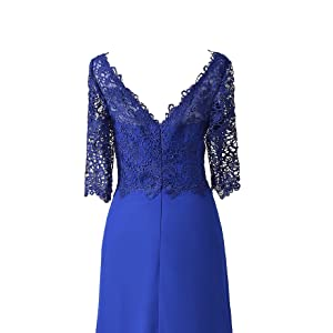 lace sleeves mother of the bride dress