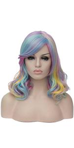 Rainbow Colorful Wig