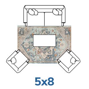 Well Woven Tivoli Collection 5x7 5x8 rugs.