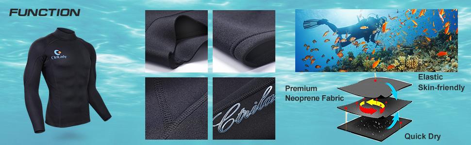 Wetsuit Jacket  for men