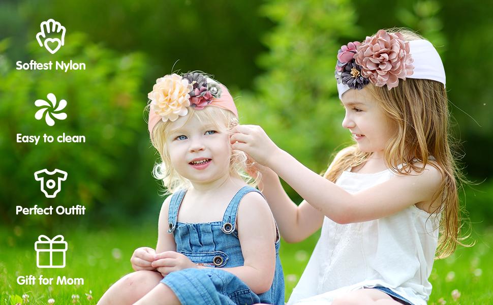 Newborn Headband Headbands for Babies Infant Headband Nylon Headband White Bow Baby Hair Bow Baby Shower Gift Upcycled