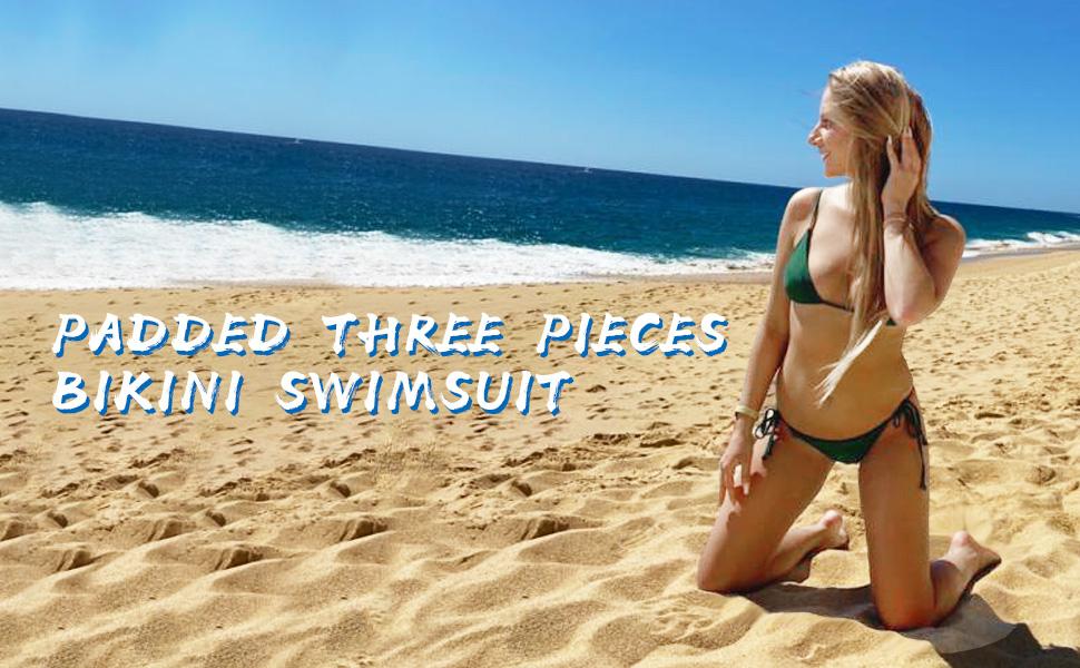 Cami Padded Three Pieces Bikini Swimsuit