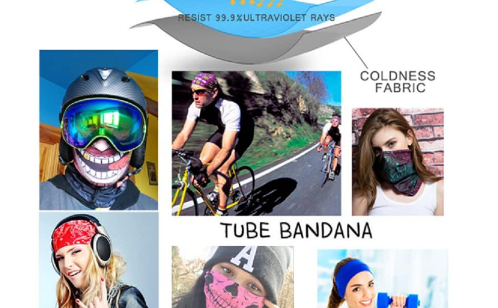 Outdoor Sports Printed UV Sun Windproof Balaclava Cycling Fishing Face Mask US