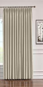 Faux Silk Pinch Pleat Curtain