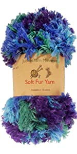 soft fur eyelash yarn