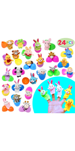 "24 Pieces 2 3/8"" Finger Puppet Easter Eggs"