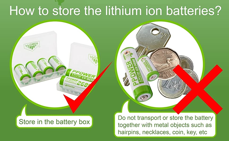 Store your battery in a box